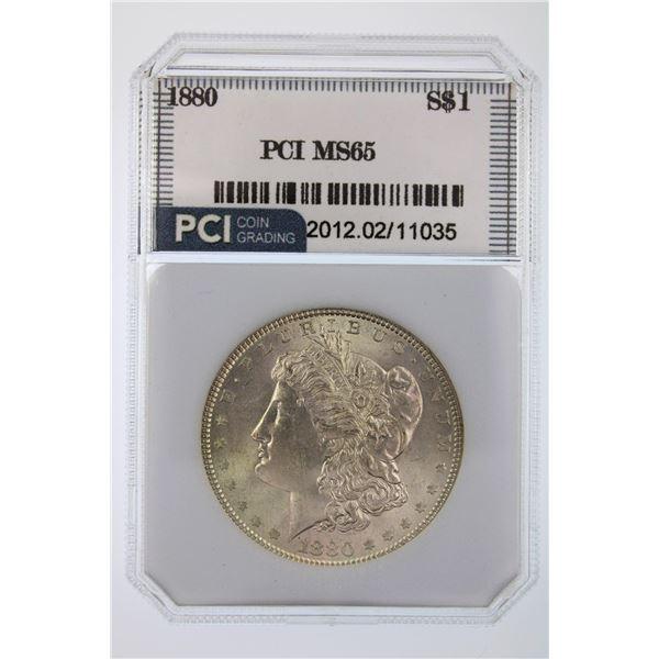 1880 Morgan Silver Dollar PCI MS-65  Price Guide $600