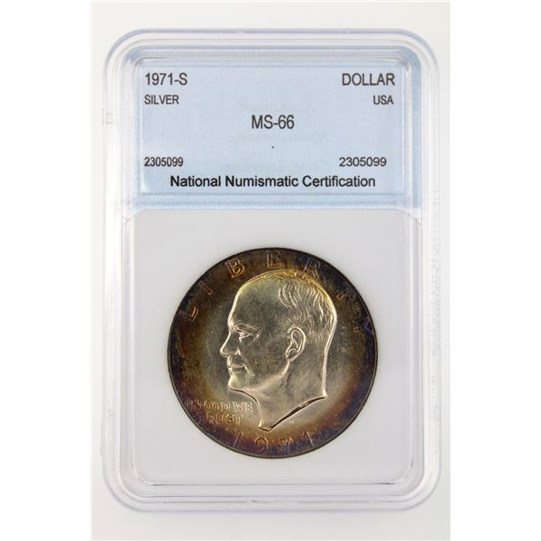 1971-S Ike Dollar NNC MS-66