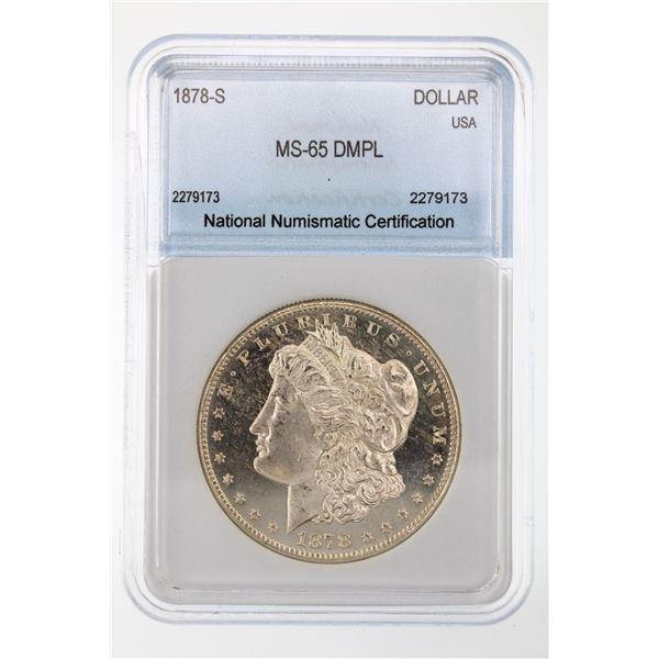 1878-S Morgan Silver Dollar NNC MS-65 DMPL Price Guide $7250