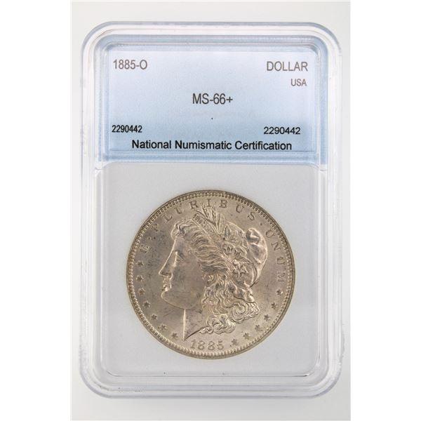 1885-O Morgan Silver Dollar NNC MS-66+  Price Guide $700