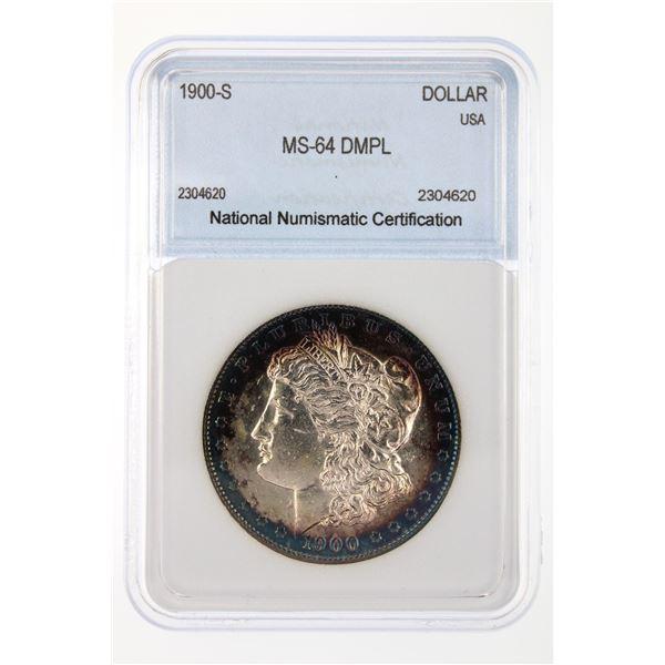 1900-S Morgan Silver Dollar NNC MS-64 DMPL Price Guide $14500