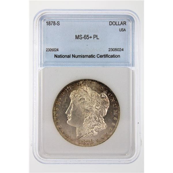 1878-S Morgan Silver Dollar NNC MS-65+ PL Price Guide $750