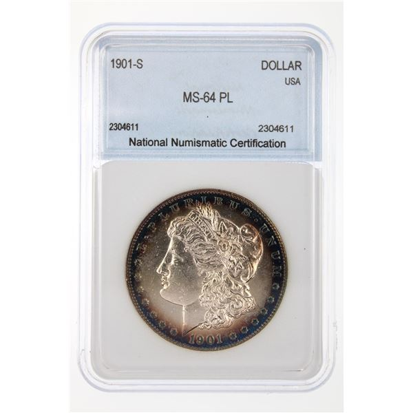 1901-S Morgan Silver Dollar NNC MS-64 PL Price Guide $3150