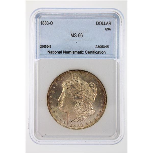 1883-O Morgan Silver Dollar NNC MS-66  Price Guide $450