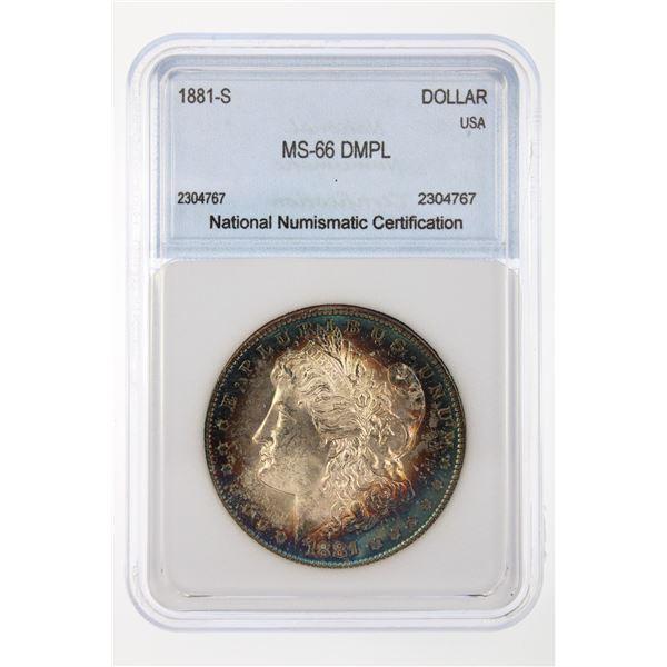 1881-S Morgan Silver Dollar NNC MS-66 DMPL Price Guide $2200
