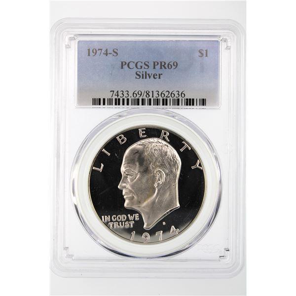1974-S Ike Dollar PCGS PR-69 Silver