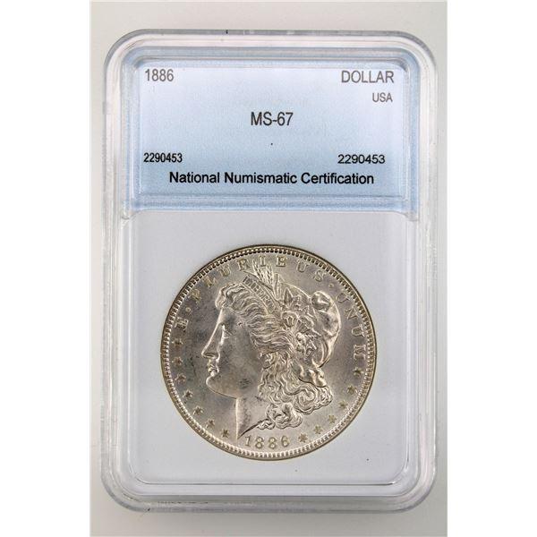 1886 Morgan Silver Dollar NNC MS-67  Price Guide $1400