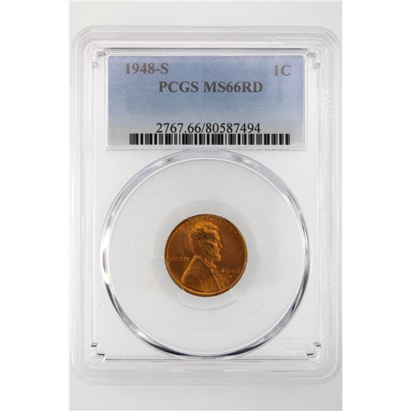1948-S Lincoln Cent PCGS MS-66 RD