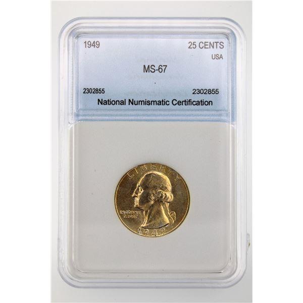 1949 Washington Quarter NNC MS-67 Price Guide $400