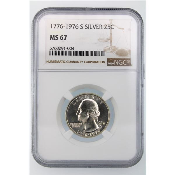 1776-1976-S Washington Quarter NGC MS-67 Silver