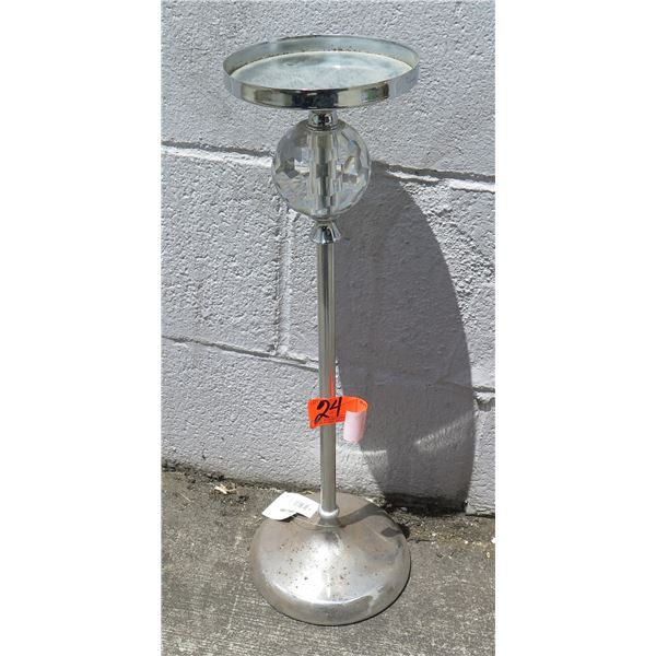Glass Candle Holder w/ Crystal Ball (Retail $99)