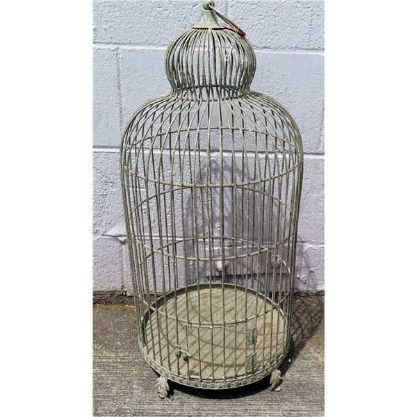 Metal Footed Bird Cage w/ Hanging Option at Top