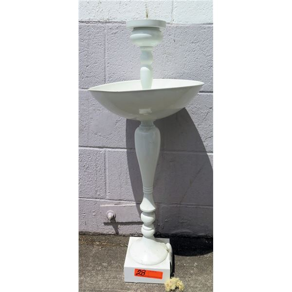 """Tall White Candle Holder 36"""" H (Retail $99, Sale $59)"""