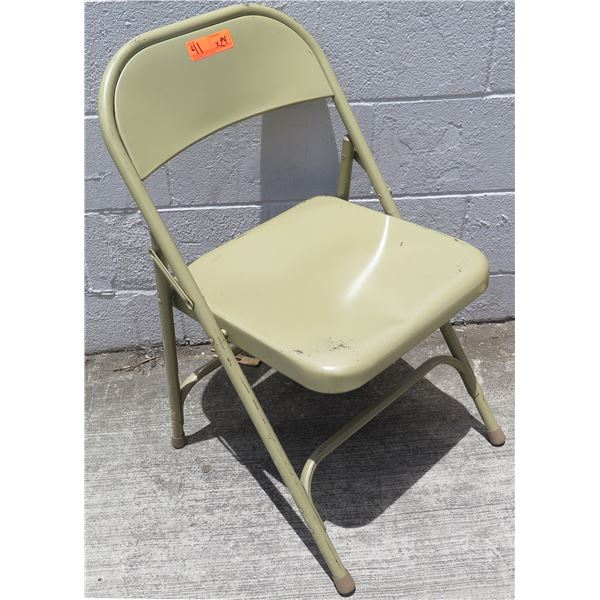 """Qty 24 Folding Metal Chairs 19""""x8""""x38""""H"""