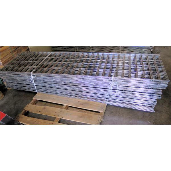 Qty Approx. 40 Expanded Metal Wire Framing or Mounted Racks
