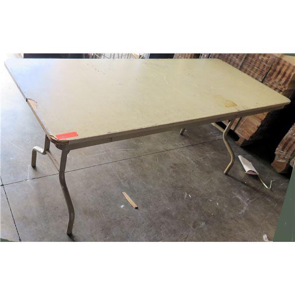 Folding Wood Laminate Table