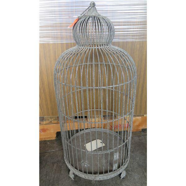 "Metal Bird Cage 15""x15""x26""H (Retail $159, Sale $79)"