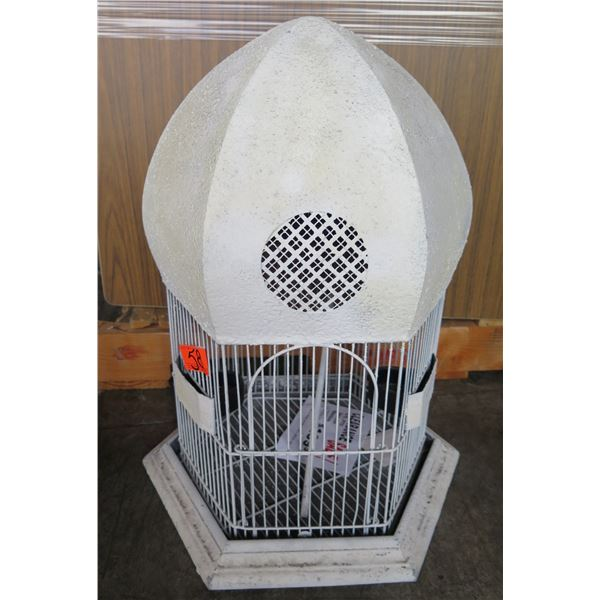 White Double Dome Bird Cage w/ Removable Base (Retail $179, Sale $99)