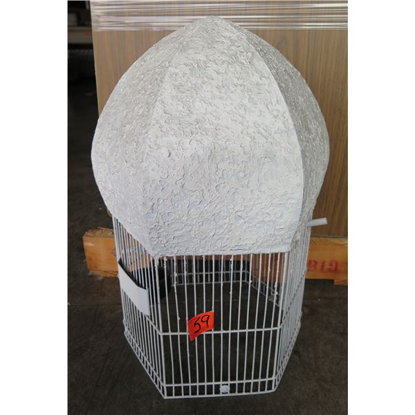 "White Double Dome Bird Cage (No Base) 20""H"