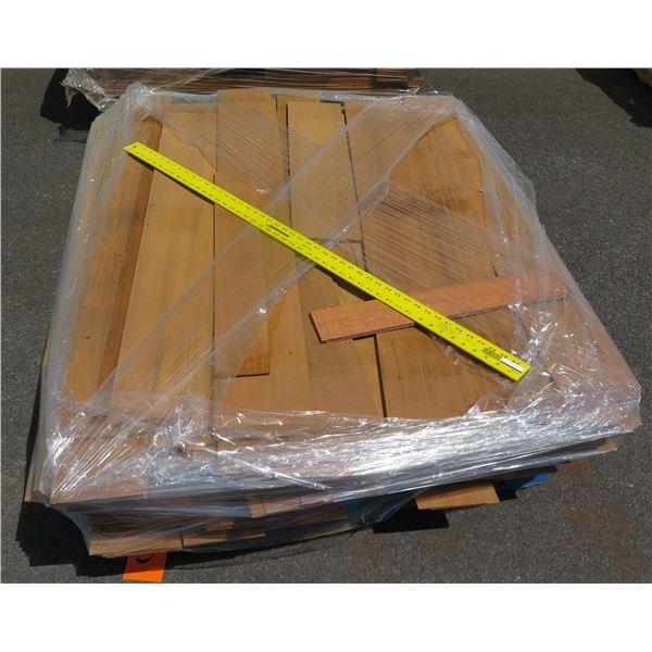 Pallet 1/8 Teak Veneer Cut Off 48 x42 x11 H