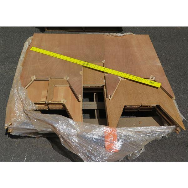 """Pallet 3/4 Teak Plywood 48""""x45""""x7""""H"""