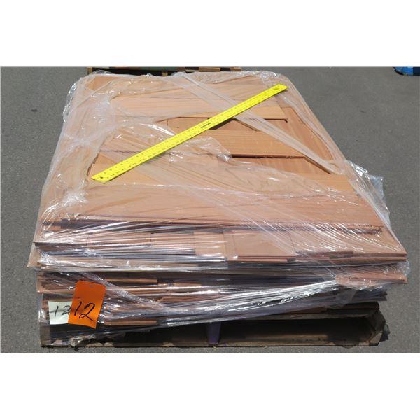 Pallet Sapele, Teak & Mahogany Veneer Cut Off 40 x48 x11 H