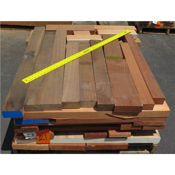 Pallet 8/4 Mix Mahogany, Oak, Walnut 40 x48 x16 H