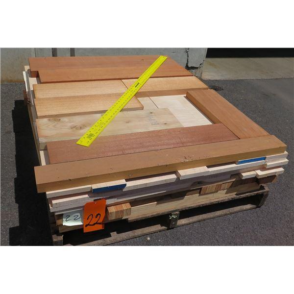 Pallet 4/4 & 8/4 Mix Teak, Maple & LVL Core 40 x48 x10 H