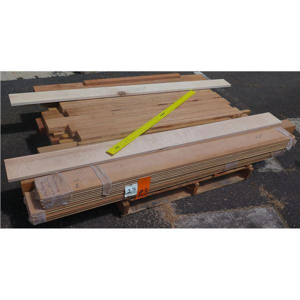 "Pallet Mix Ohia Flooring, Teak, Mahogany & LVL Core 76""x46""x9""H"