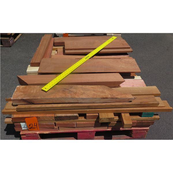 "Pallet Mix Teak, Red Wood, Oak, Mahogany & Sapele 40""x48""x11""H"