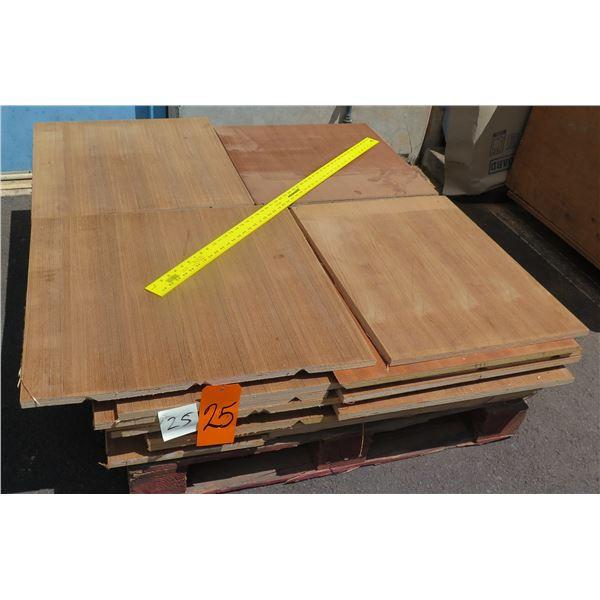 """Pallet 3/4 Teak Plywood 42""""x48""""x9""""H"""