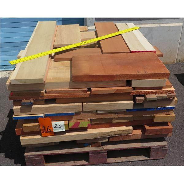 Pallet Mix 8/4 Fir, Oak, Mahogany & Sapele 40 x48 x23 H