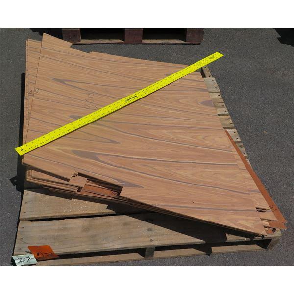 """Pallet 1/4 Teak Plywood 40""""x48""""x6""""H"""