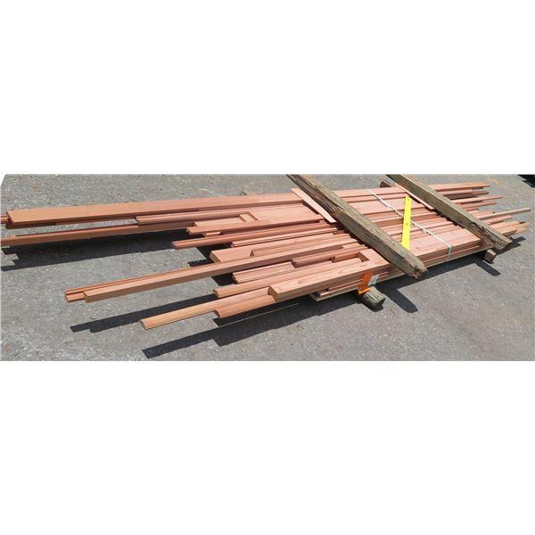 "Bundle Redwood Trims 4""x33""x9'"