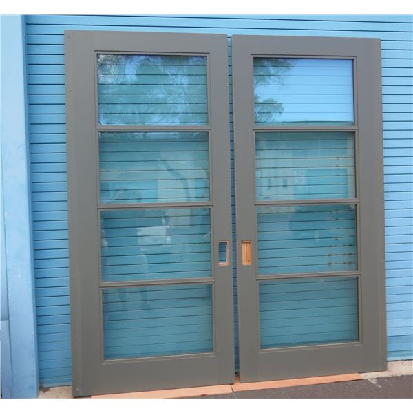 Qty 2 Sliding Doors with Performance Insulated Glass, Retail $11,400