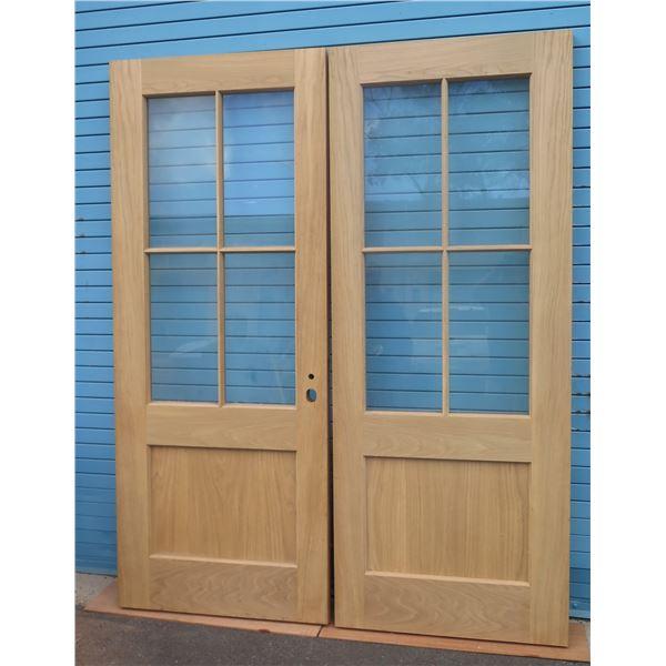 Pair of Swing Doors (White Oak on exterior & Western Red Cedar on interior)
