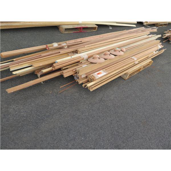 Misc. trims – astragals.  Poplar, Mahogany, Redwood, Fir.