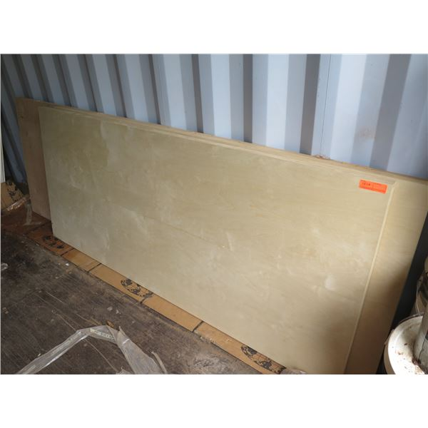 """3 each solid core birch flush doors.  Sizes are approx. 36"""" x 102"""" x 1-3/4"""" and 36"""" x 80"""" x 1-3/4"""""""