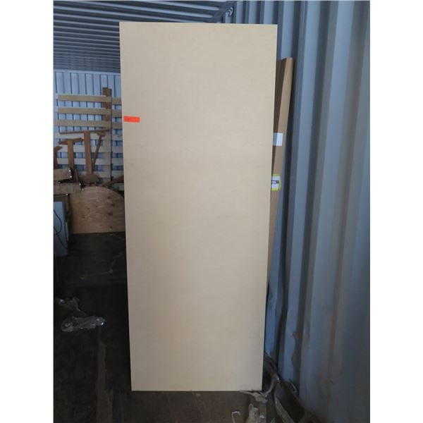 """1 each solid core door with HDF face.  Approx. 32"""" x 84"""""""