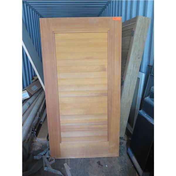 """1 each Redwood T& G door.  Approx. 36"""" x 69"""""""