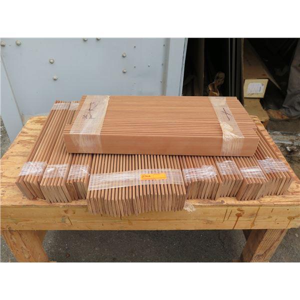 """Mahogany louver blades approx. 7/16"""" x 3-9/16"""" elliptical"""