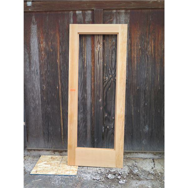 """1 each VG Fir open lite door approx. 36"""" x 90"""""""