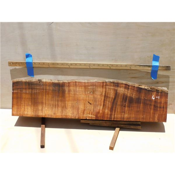 Koa -- curly billet to resaw for fishhooks, Hawaiian weapons, small turnings