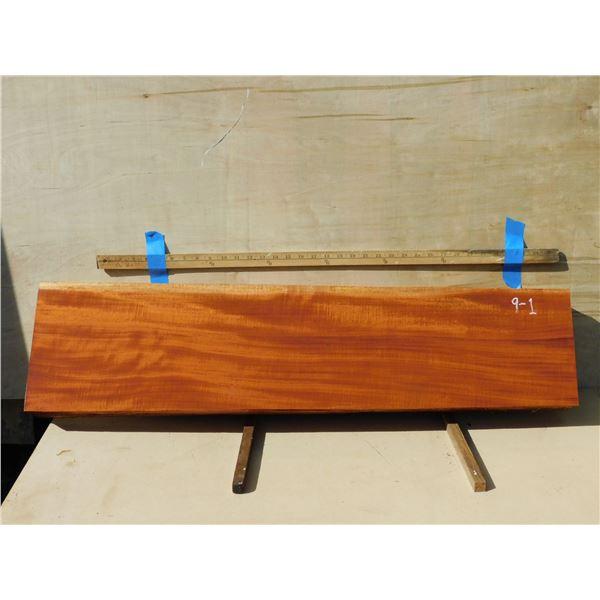 Cuban mahogany --  quartersawn, instrument-grade billet for guitars, ukulele