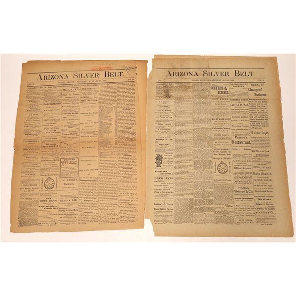 Two Globe, Arizona Territory Newspapers  [136024]