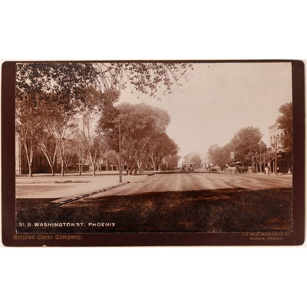 Phoenix Street Scene Cabinet Card  Circa 1880  [132685]
