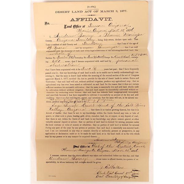 Desert Land Act of 1877 Land Grant  [137355]