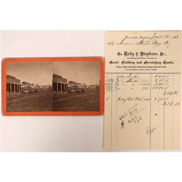 Prescott Stereoview  of Main Street and Territorial Billhead  [137347]