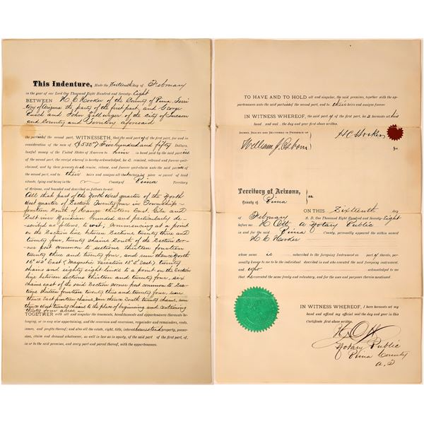 Henry Clay Hooker Autographed Indenture  [137573]