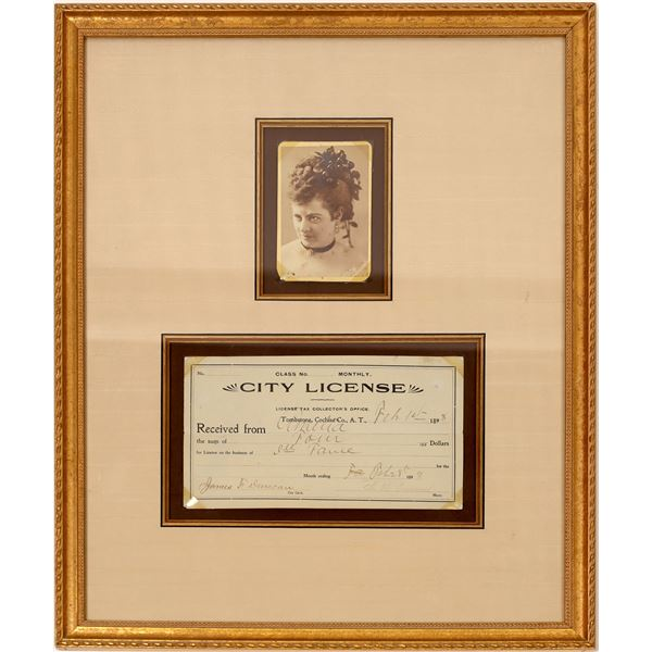 Prostitute License and Photo from Tombstone, Arizona  [135881]